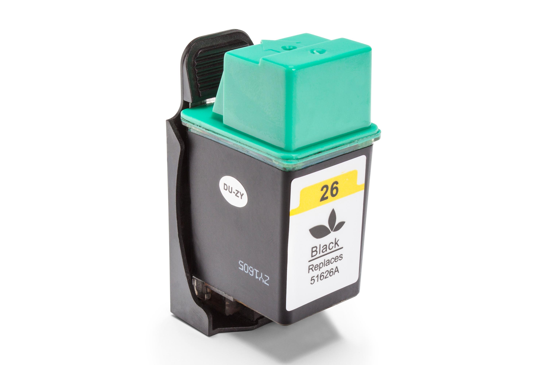 Kompatibel zu HP Nr 26 / 51626AE Tintenpatrone schwarz