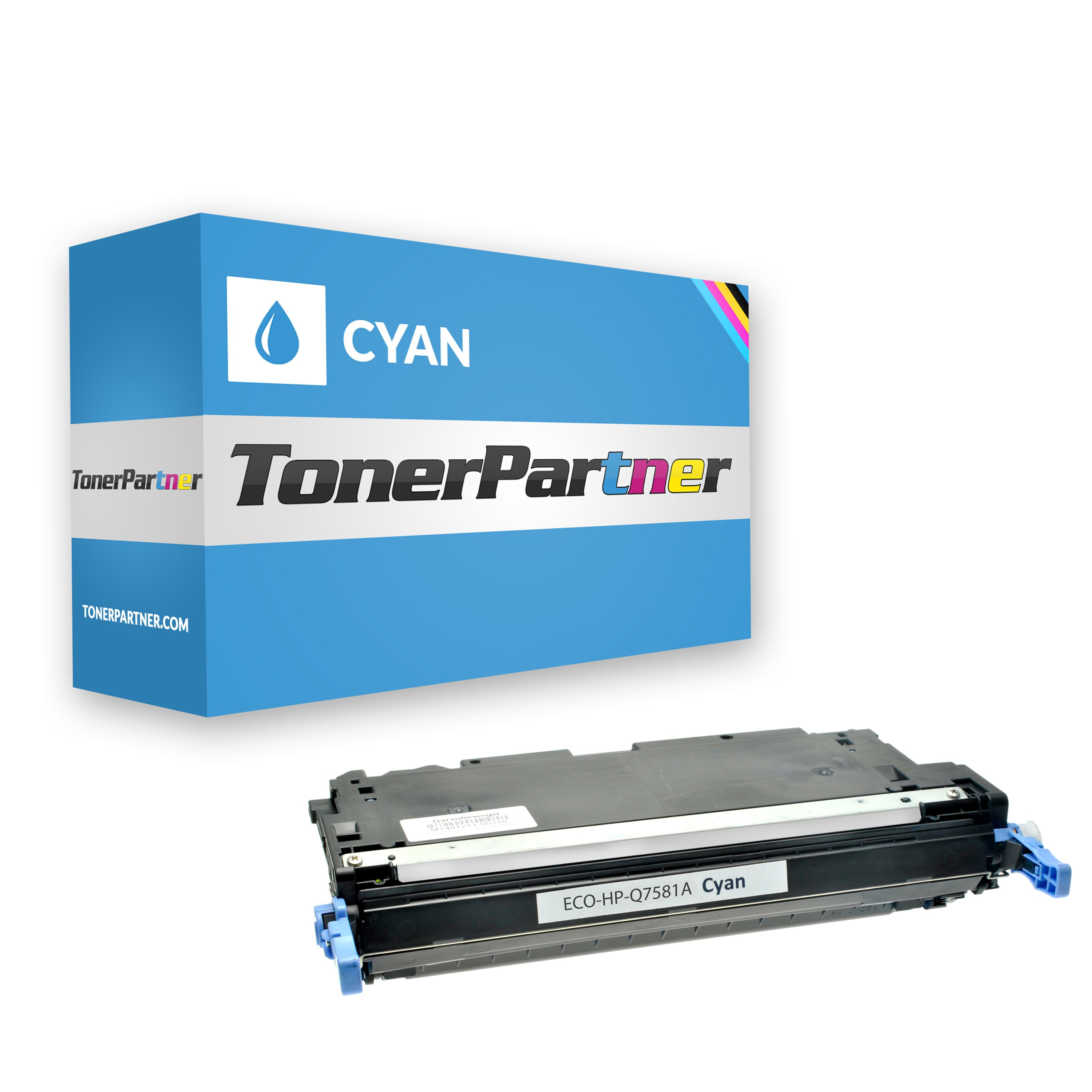 Compatible to HP Q7581A / 503A Toner cyan