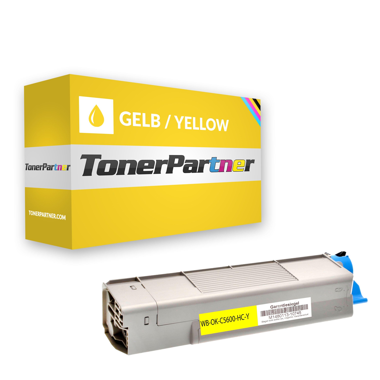 Huismerk voor OKI 43381905 Toner geel