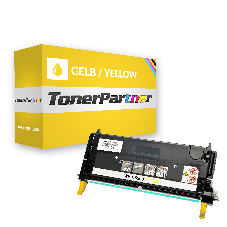 Kompatibel zu Epson C13S051124 / C3800 Toner gelb