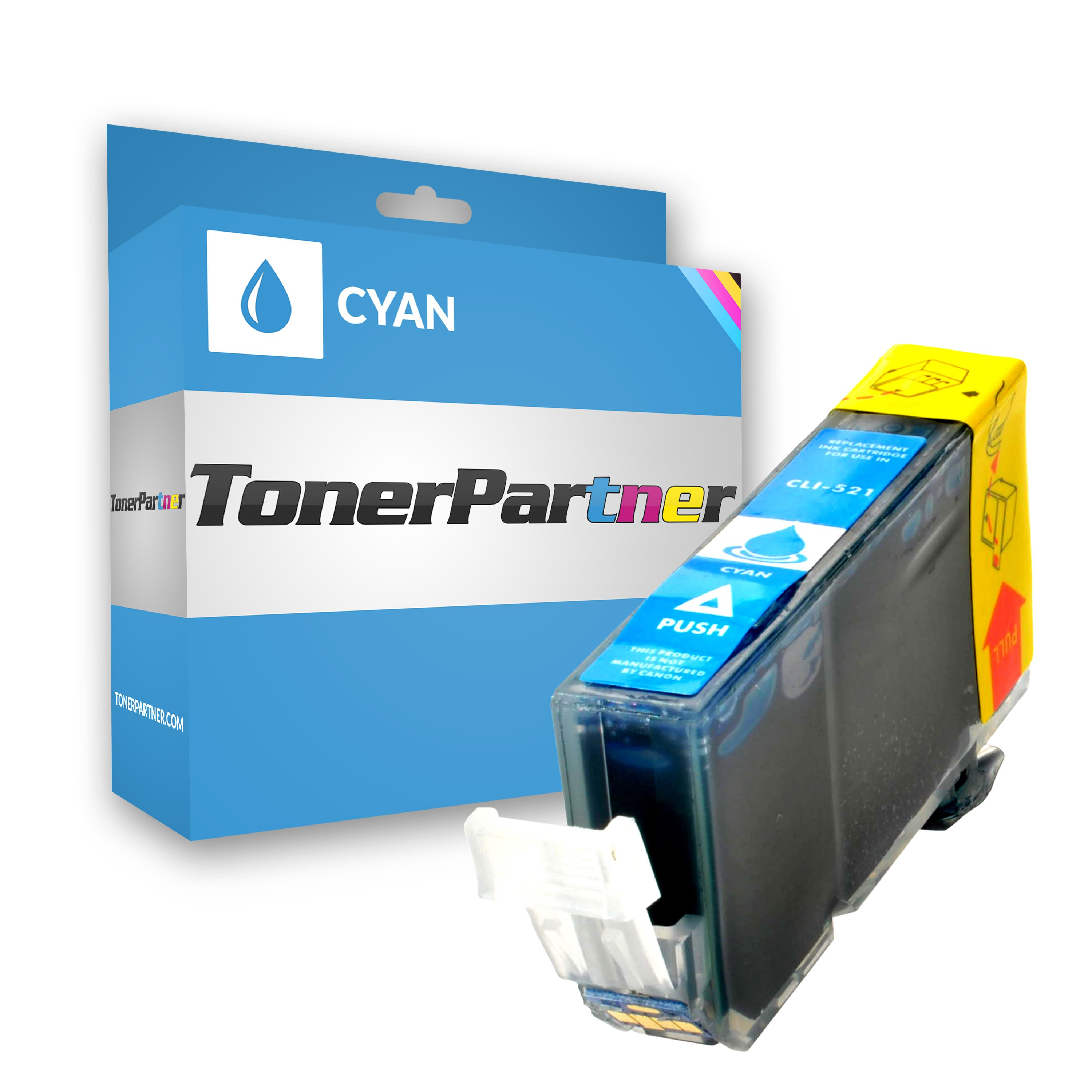 Compatible to Canon 2934B001 / CLI521C Ink cartridge cyan