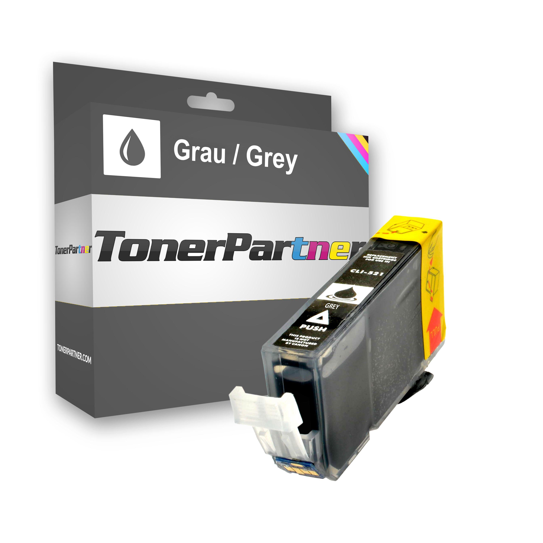 Kompatibel zu Canon CLI-521GY Tintenpatrone Grau mit Chip