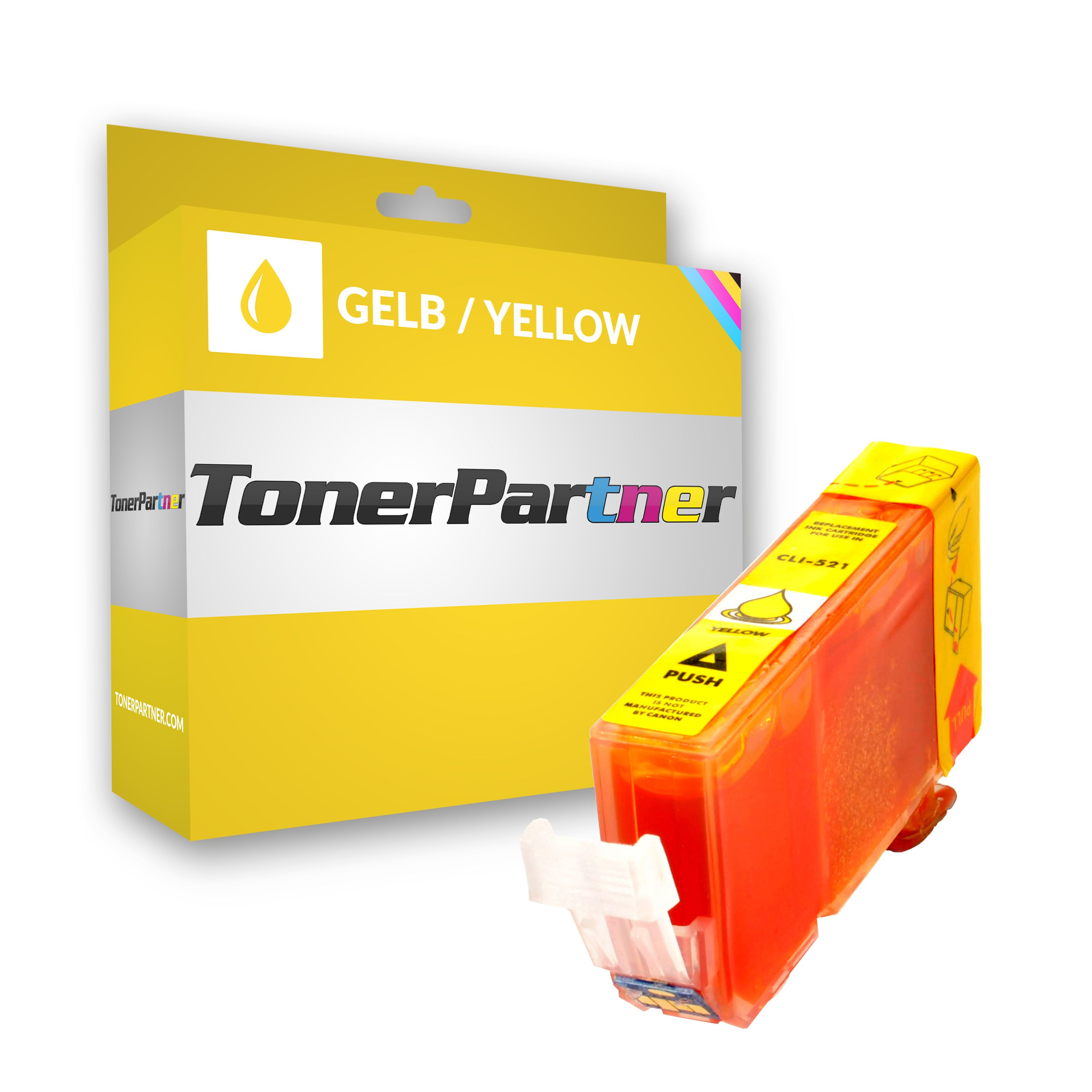 Compatible to Canon 2936B001 / CLI521Y Ink cartridge yellow