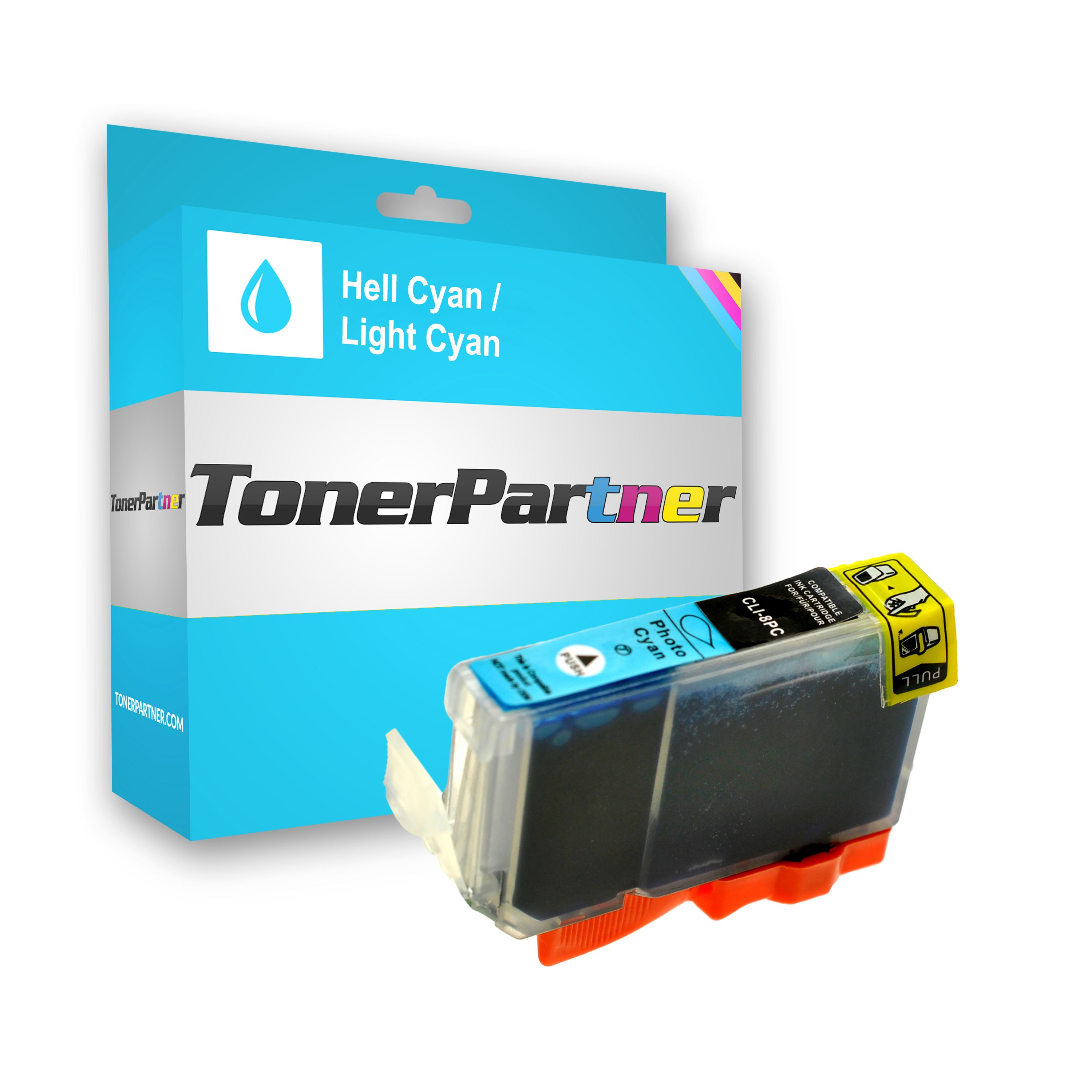 Compatible to Canon 0624B001 / CLI8PC Ink cartridge bright cyan