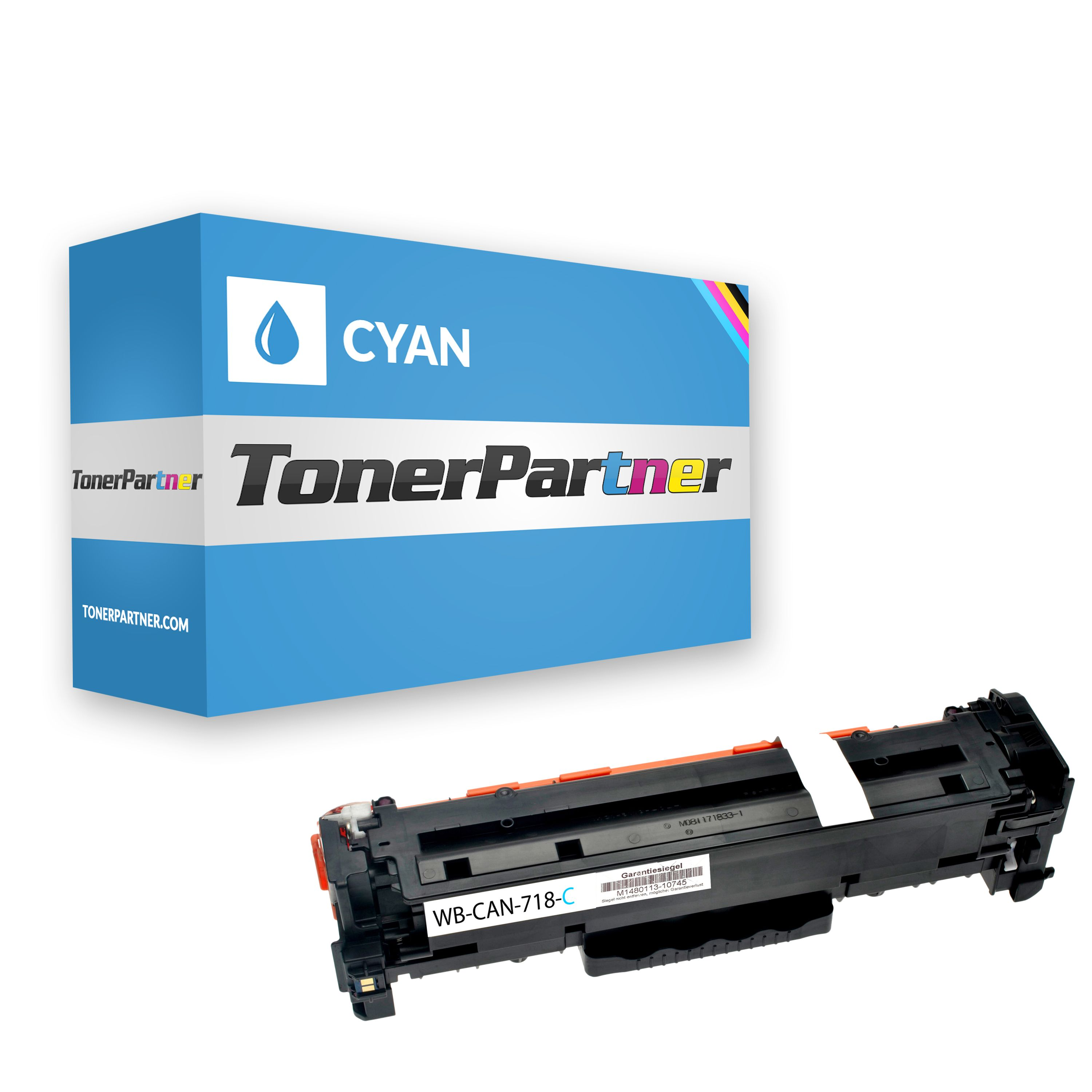 Compatible to Canon 2661B002 / 718C Toner cyan