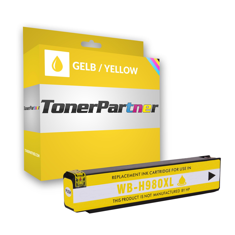 HP D8J09A / 980 Tintenpatrone gelb Kompatibel