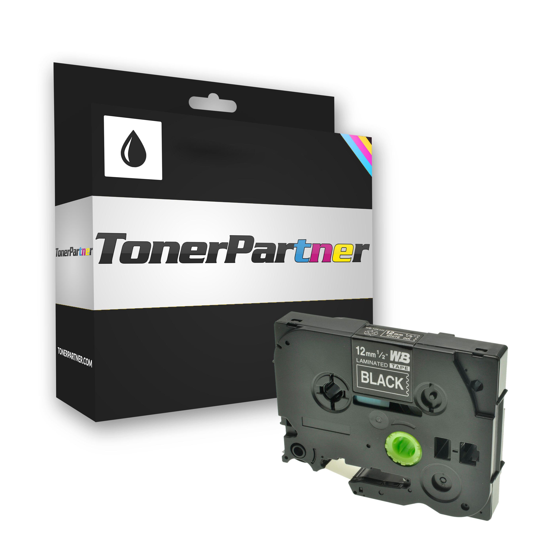 Brother TZE335 P-Touch Farbband weiss auf schwarz Laminat 12mm x 8m Kompatibel