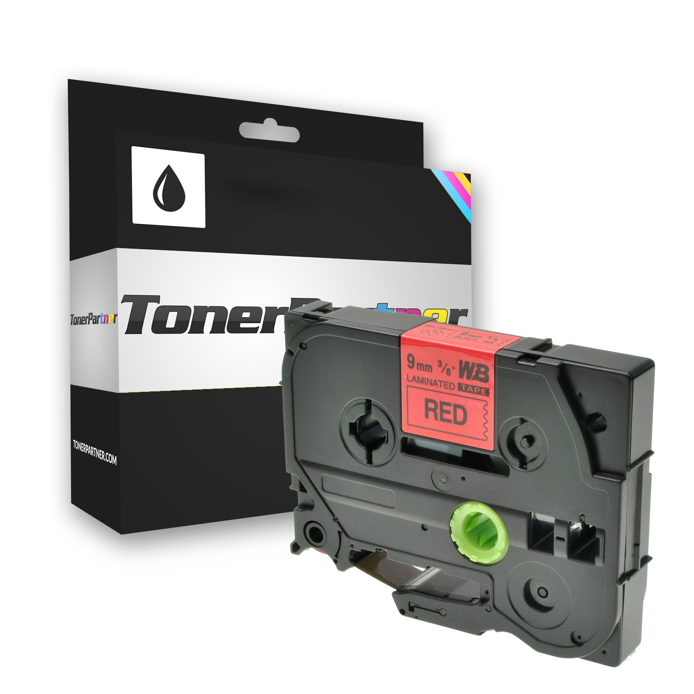 Brother TZE421 P-Touch Farbband schwarz auf rot Laminat 9mm x 8m Kompatibel