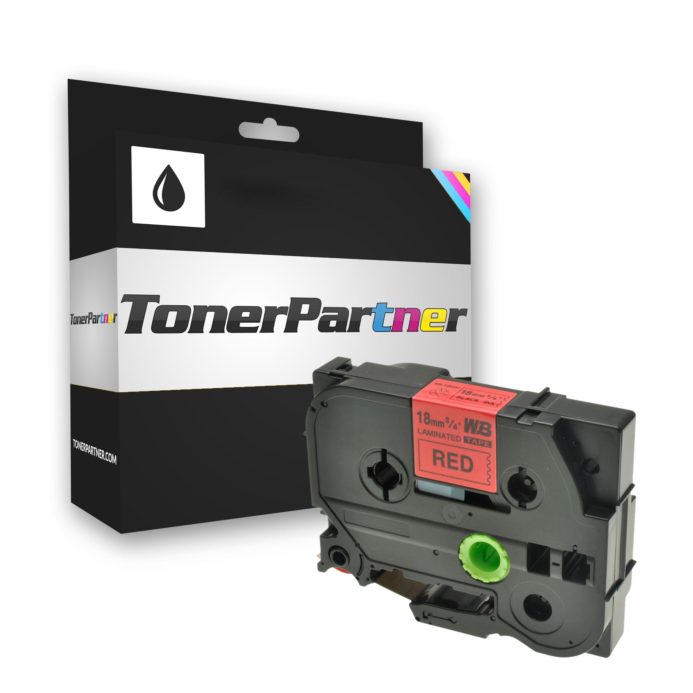Brother TZE441 P-Touch Farbband schwarz auf rot Laminat 18mm x 8m Kompatibel