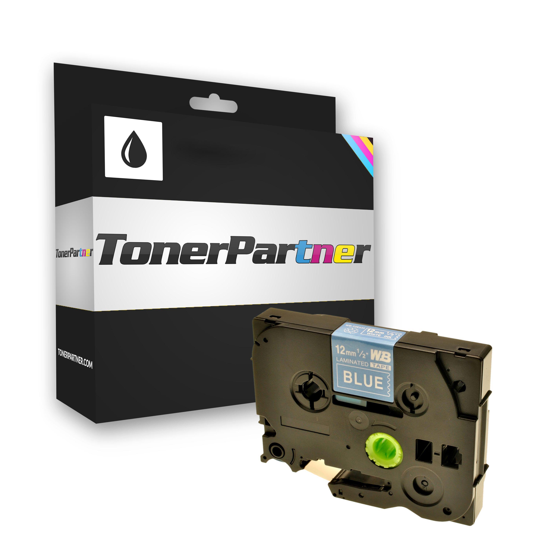 Brother TZE535 P-Touch Farbband weiss auf blau Laminat 12mm x 8m Kompatibel