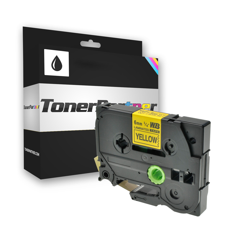Brother TZE611 P-Touch Farbband schwarz auf gelb Laminat 6mm x 8m Kompatibel