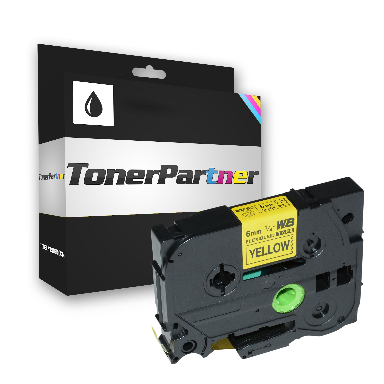 Brother TZEFX611 P-Touch Farbband schwarz auf gelb Laminat 6mm x 8m Kompatibel
