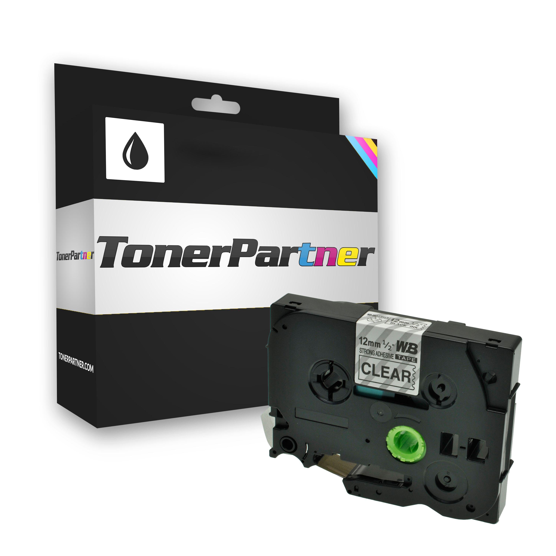 Brother TZES131 P-Touch Farbband schwarz auf Transparent extra stark 12mm x 8m Kompatibel