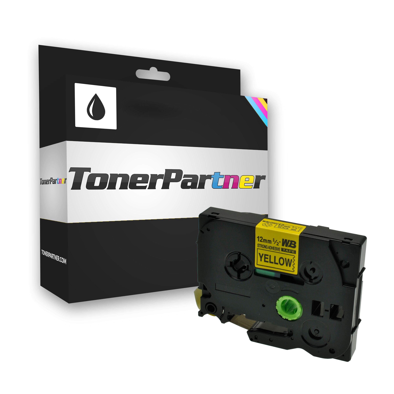 Brother TZES631 P-Touch Farbband schwarz auf gelb extra stark Laminat 12mm x 8m Kompatibel