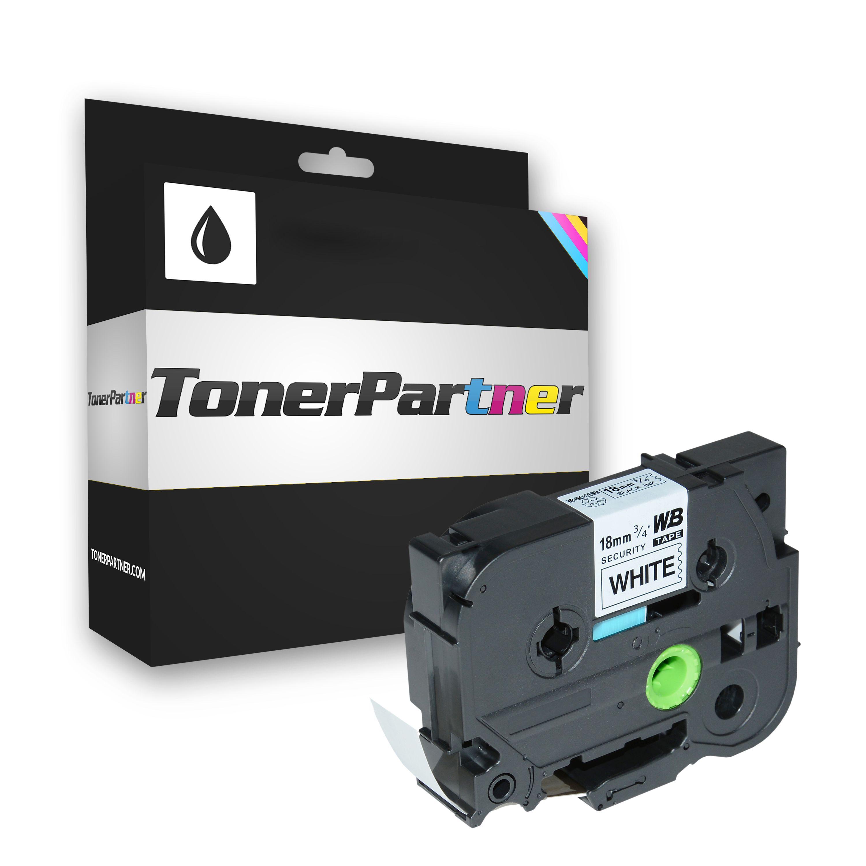 Brother TZE-SE4 P-Touch Farbband schwarz auf weiss Laminat 18mm x 8m Kompatibel
