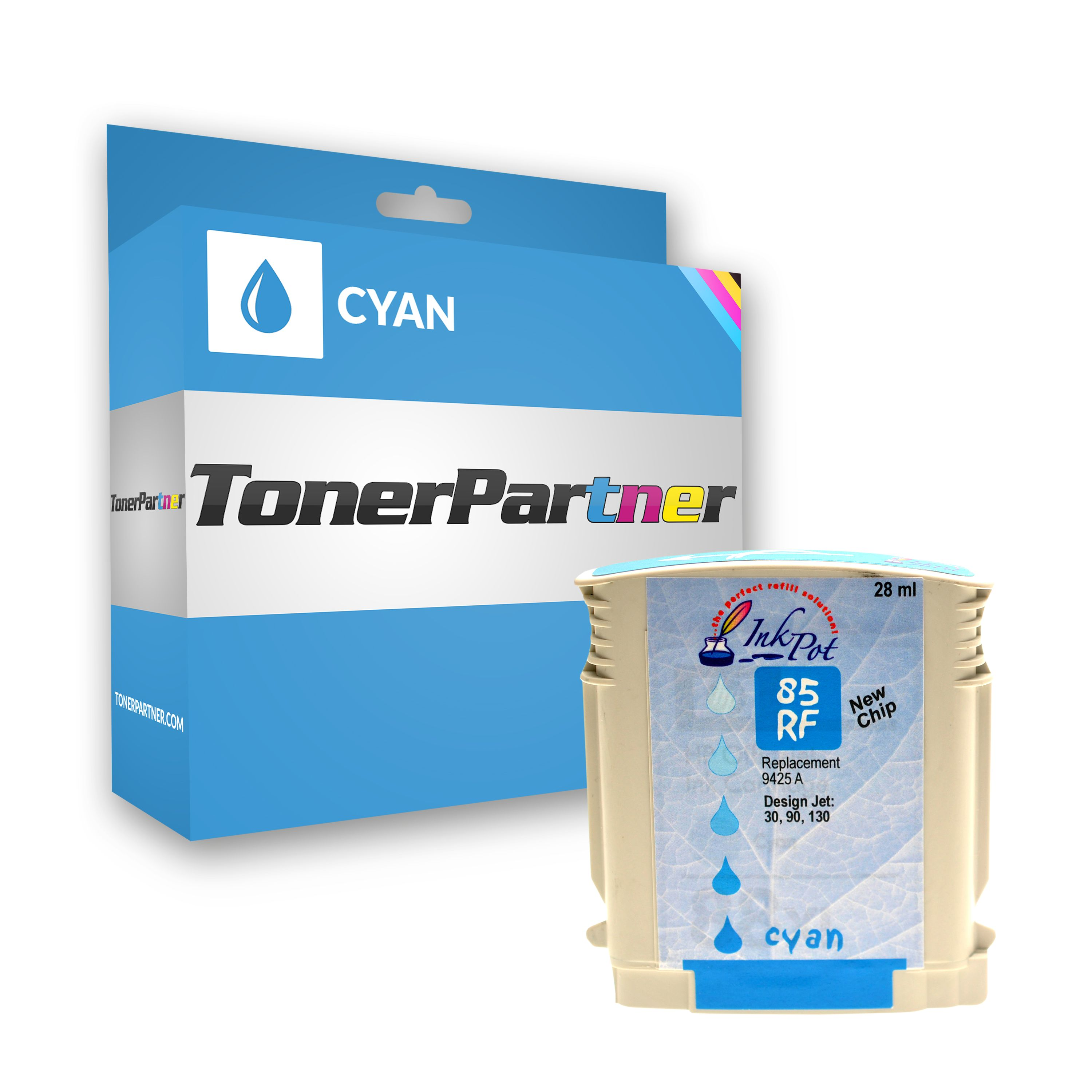 Compatible to HP C 9425 A / 85 Ink cartridge cyan