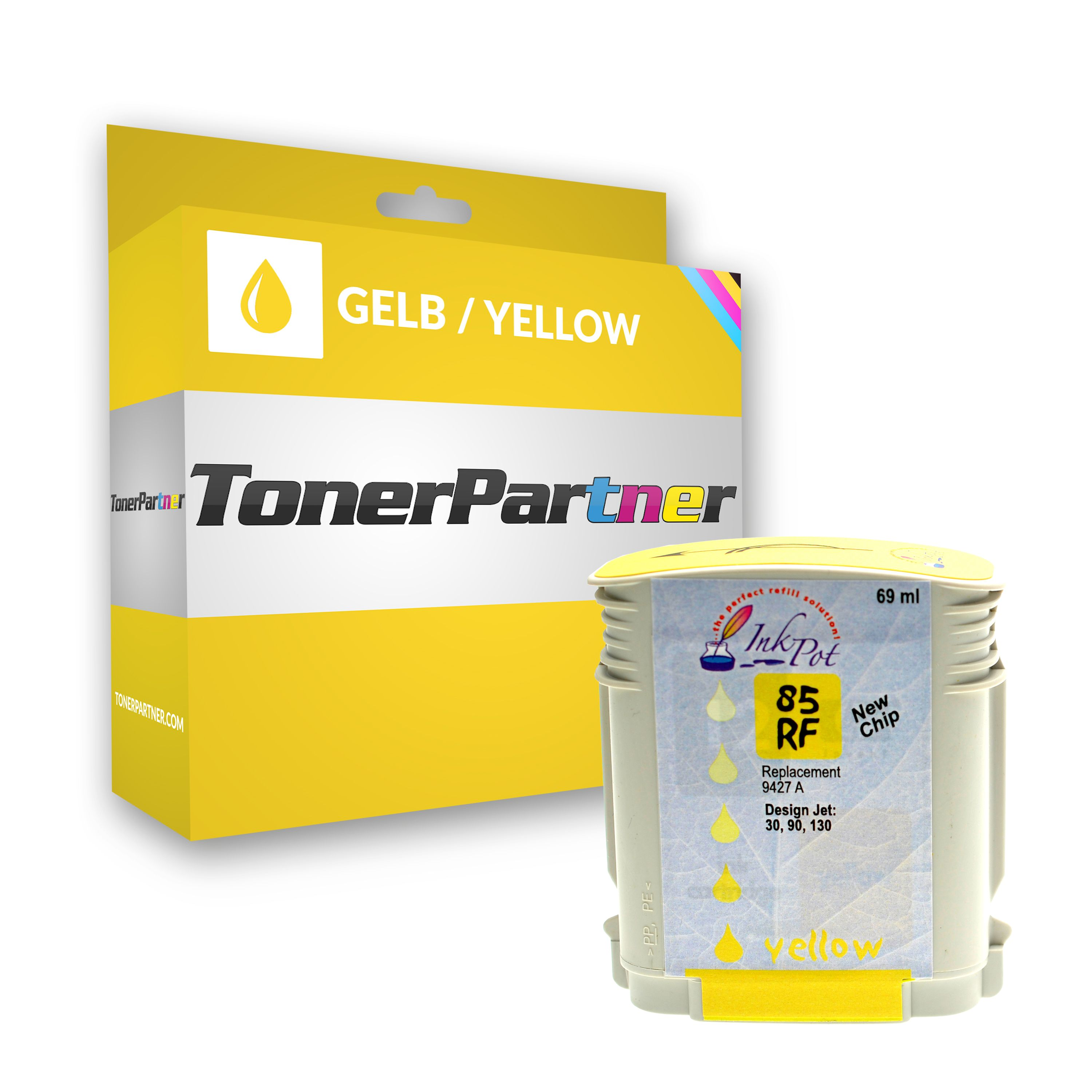 Compatible to HP C 9427 A / 85 Ink cartridge yellow