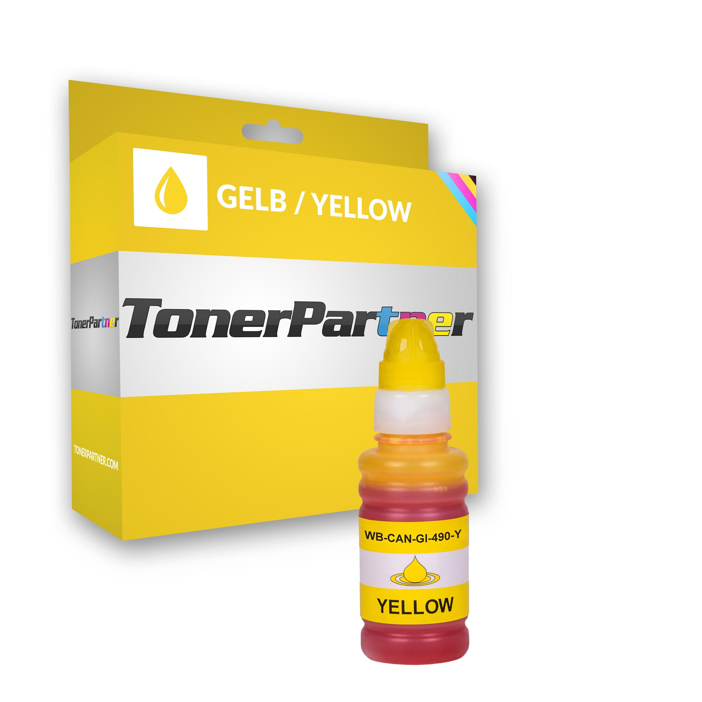 Kompatibel zu Canon 0666C001 / GI-490 Y Tintenpatrone Gelb