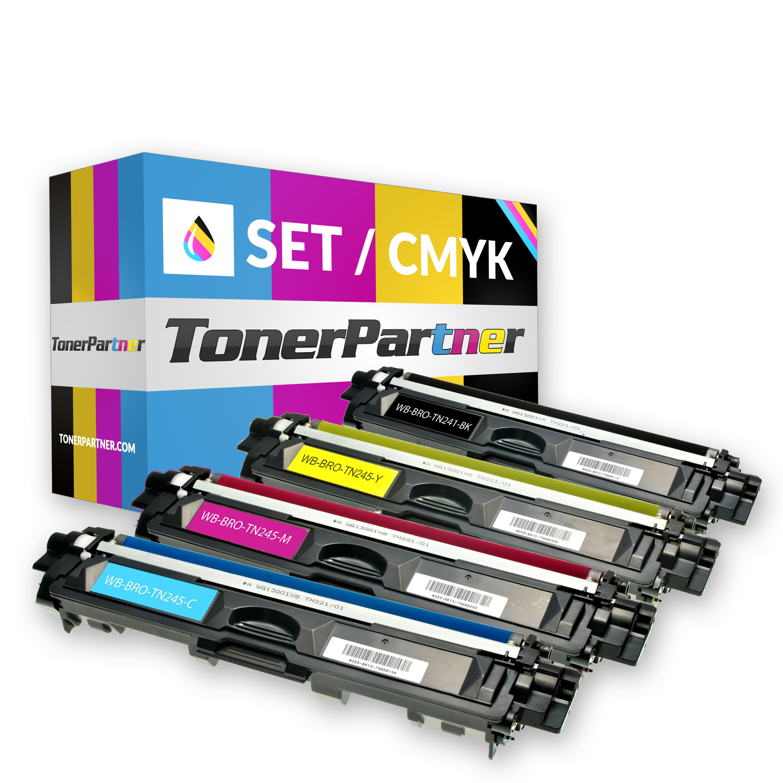Brother TN-241BK (1x 2.500 Seiten) - TN-245C/M/Y (3x 2.200 Seiten) Toner MultiPack Kompatibel