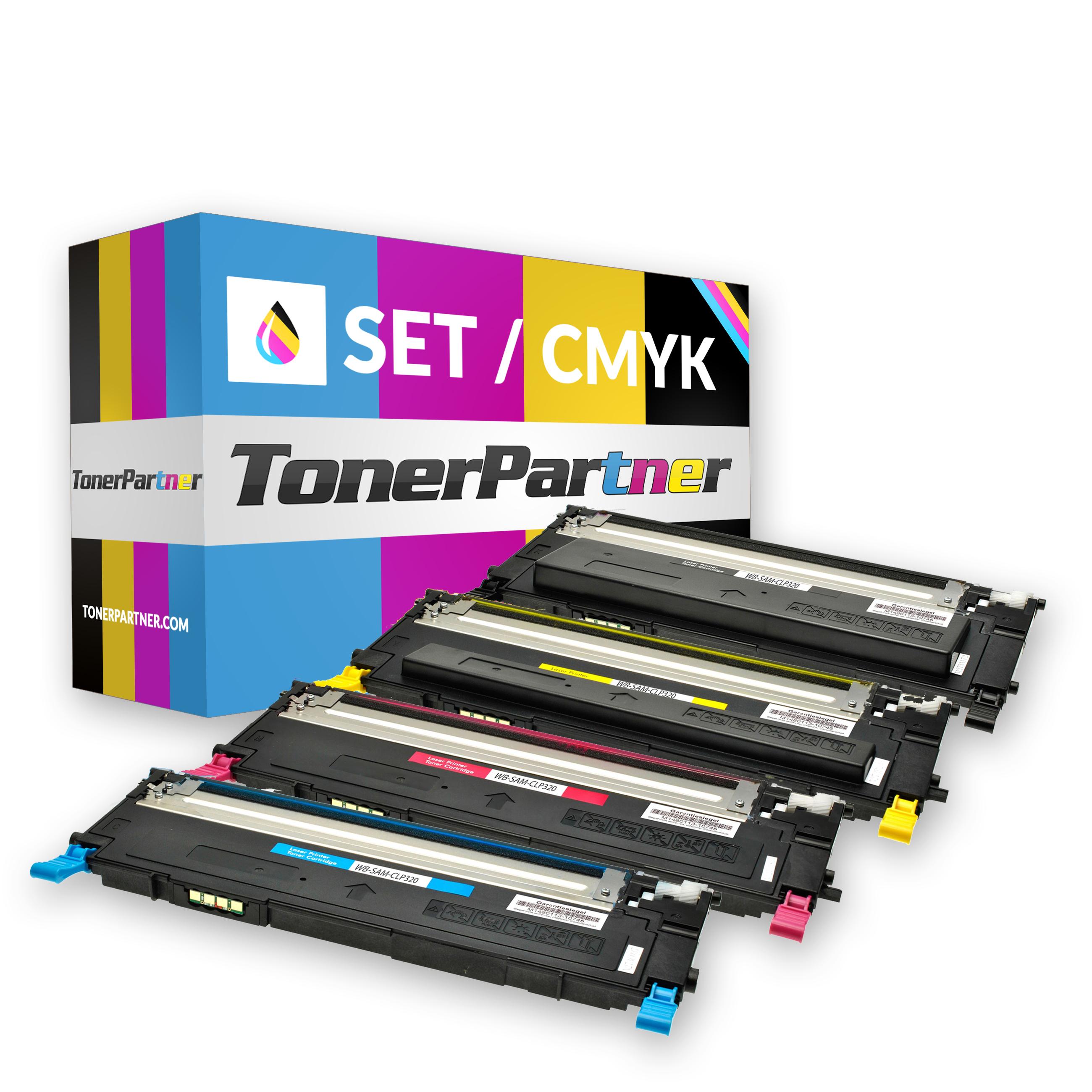 Kompatibel zu Samsung CLT-P4072CELS / P4072C Tonerkartusche multipack