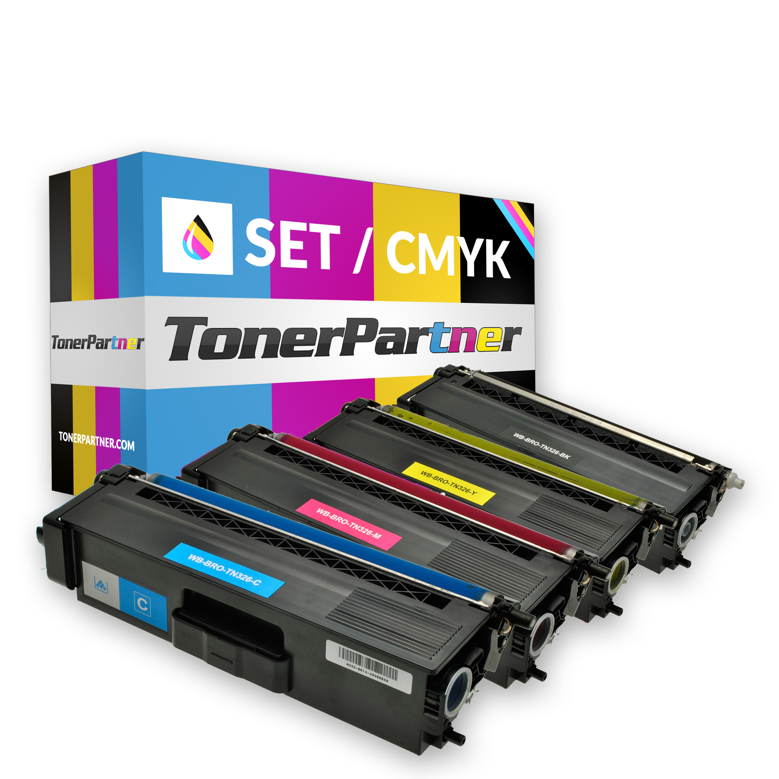 Brother TN-326BK (1x 4.000 Seiten) - TN-326C/M/Y (3x 3.500 Seiten) Toner MultiPack Kompatibel