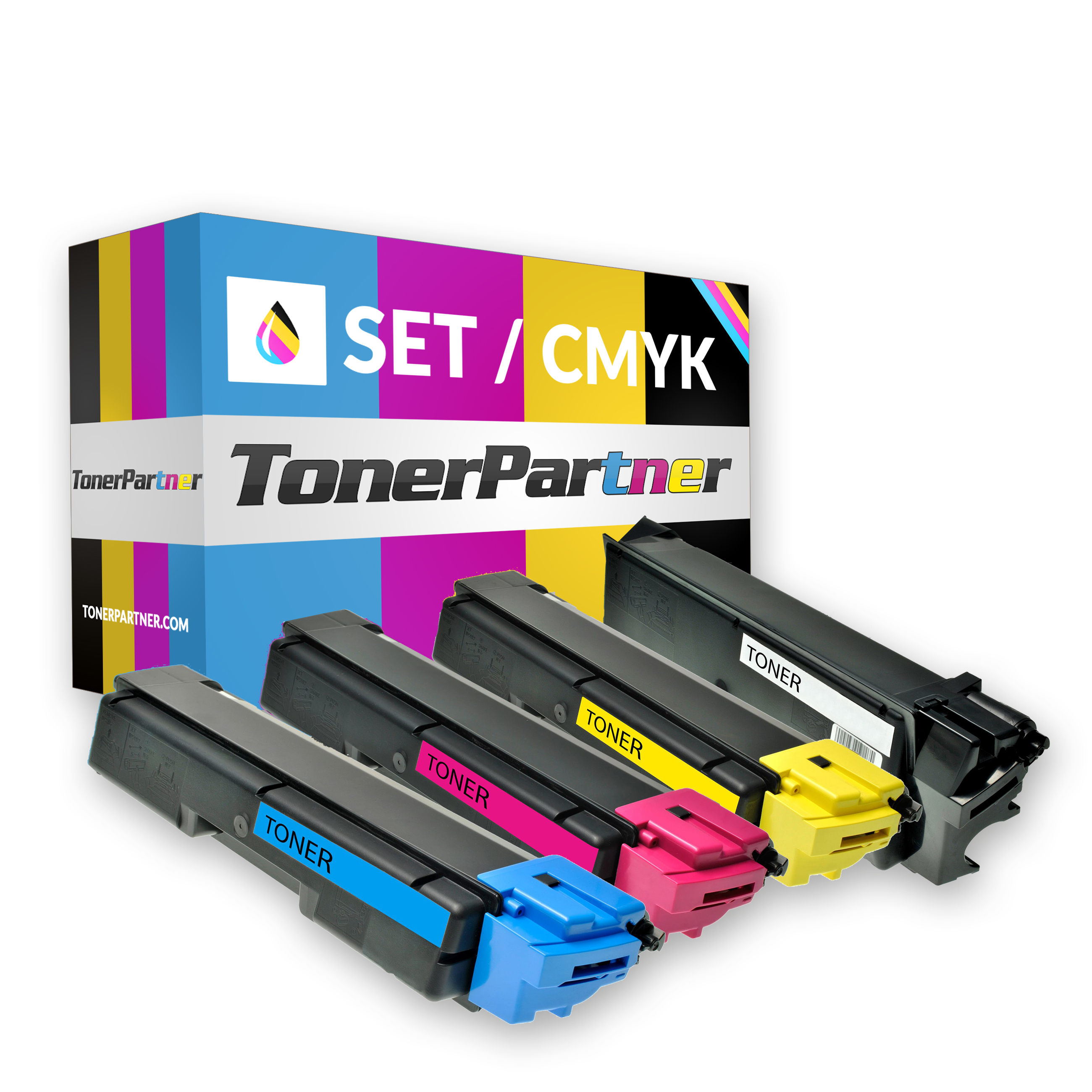Kyocera/Mita TK-590 K (1x 7.000 Seiten) TK-590 C/M/Y (3x 5.000 Seiten) Toner MultiPack Kompatibel