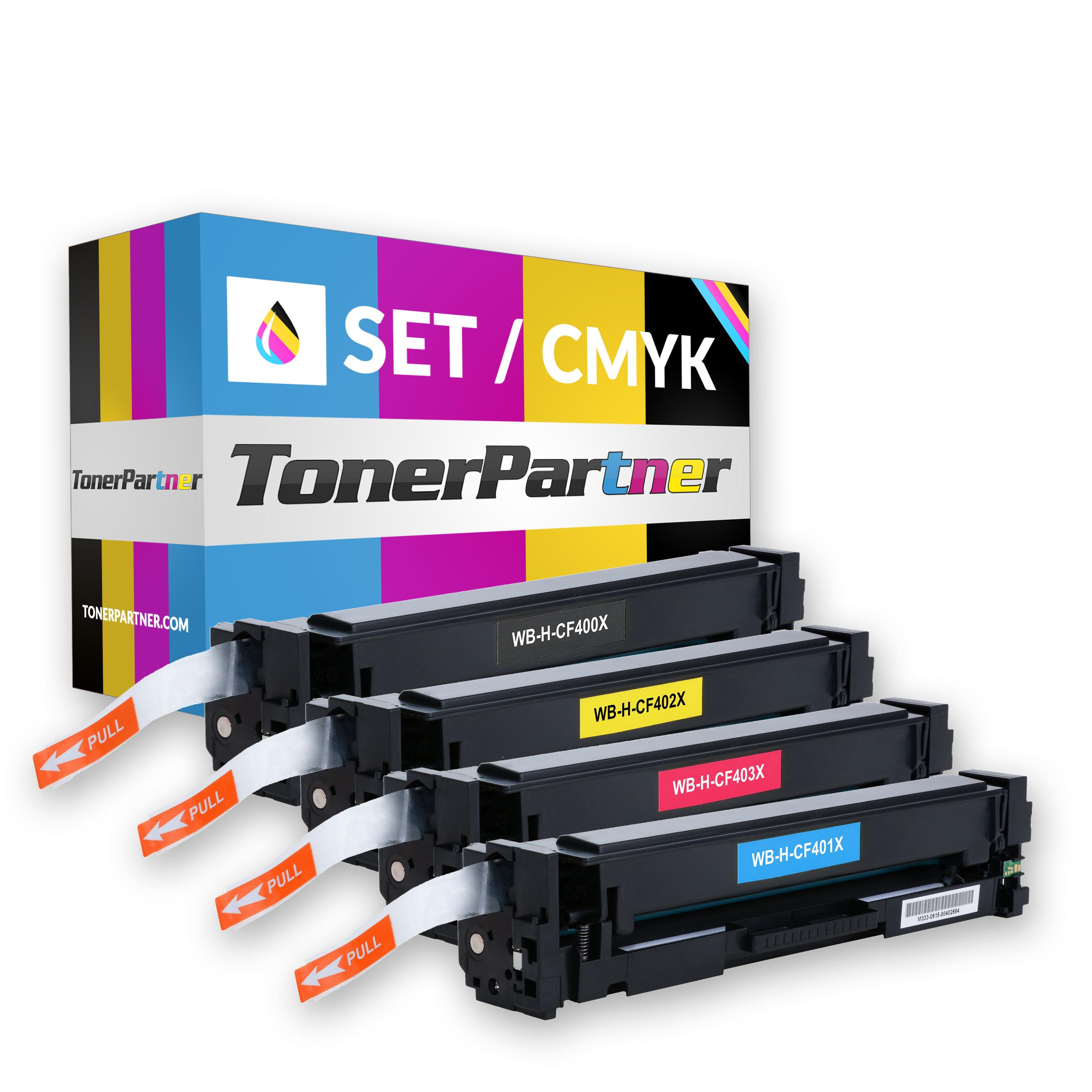 HP CF400X (1x 2.800 Seiten) - CF401X/CF402X/CF403X (3x 2.300 Seiten) Toner MultiPack Kompatibel
