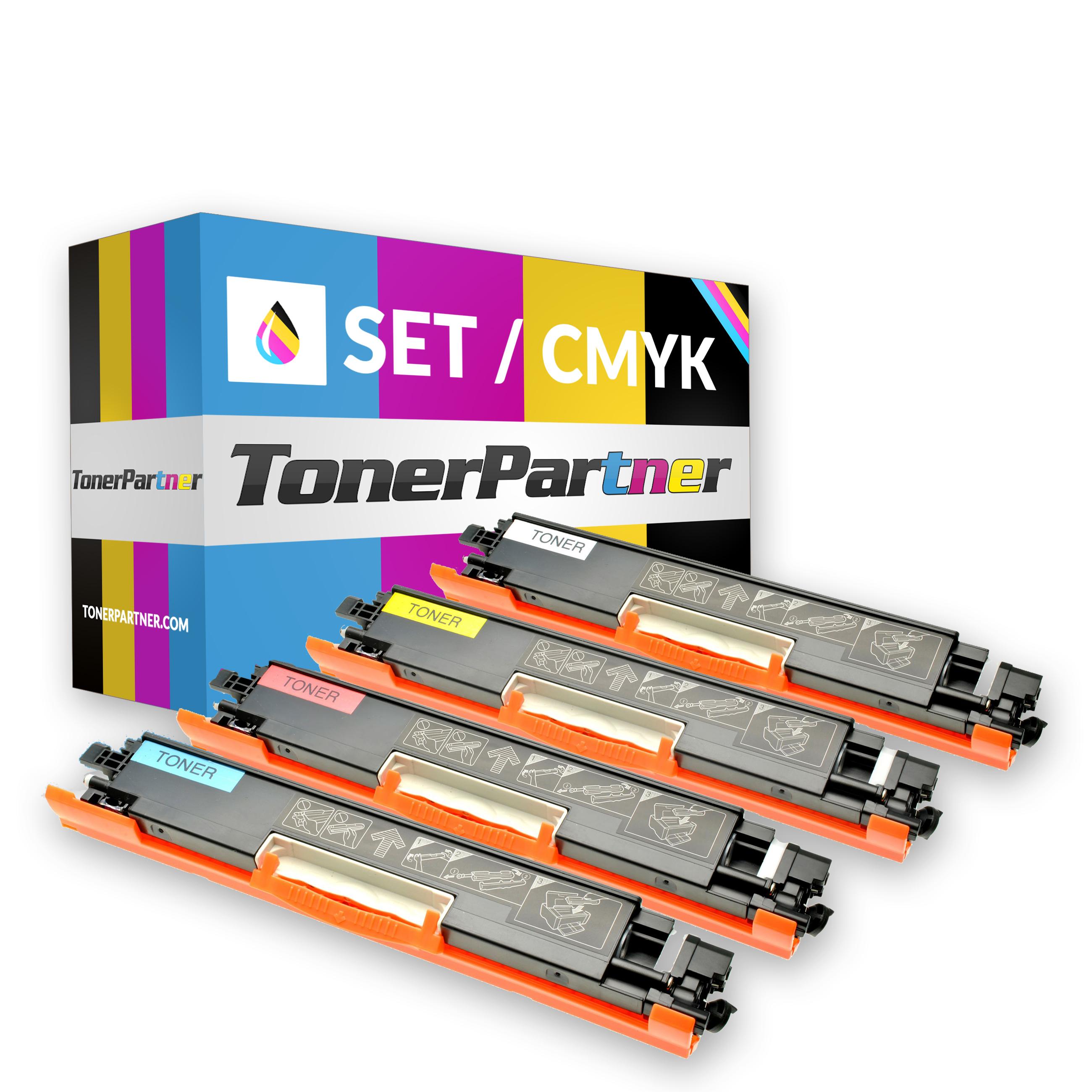 TonerPartenaire HP CE310A (1x 1.200 pages) - CE311A/CE312A/CE313A (3x 1.000 pages) Toner MultiPack