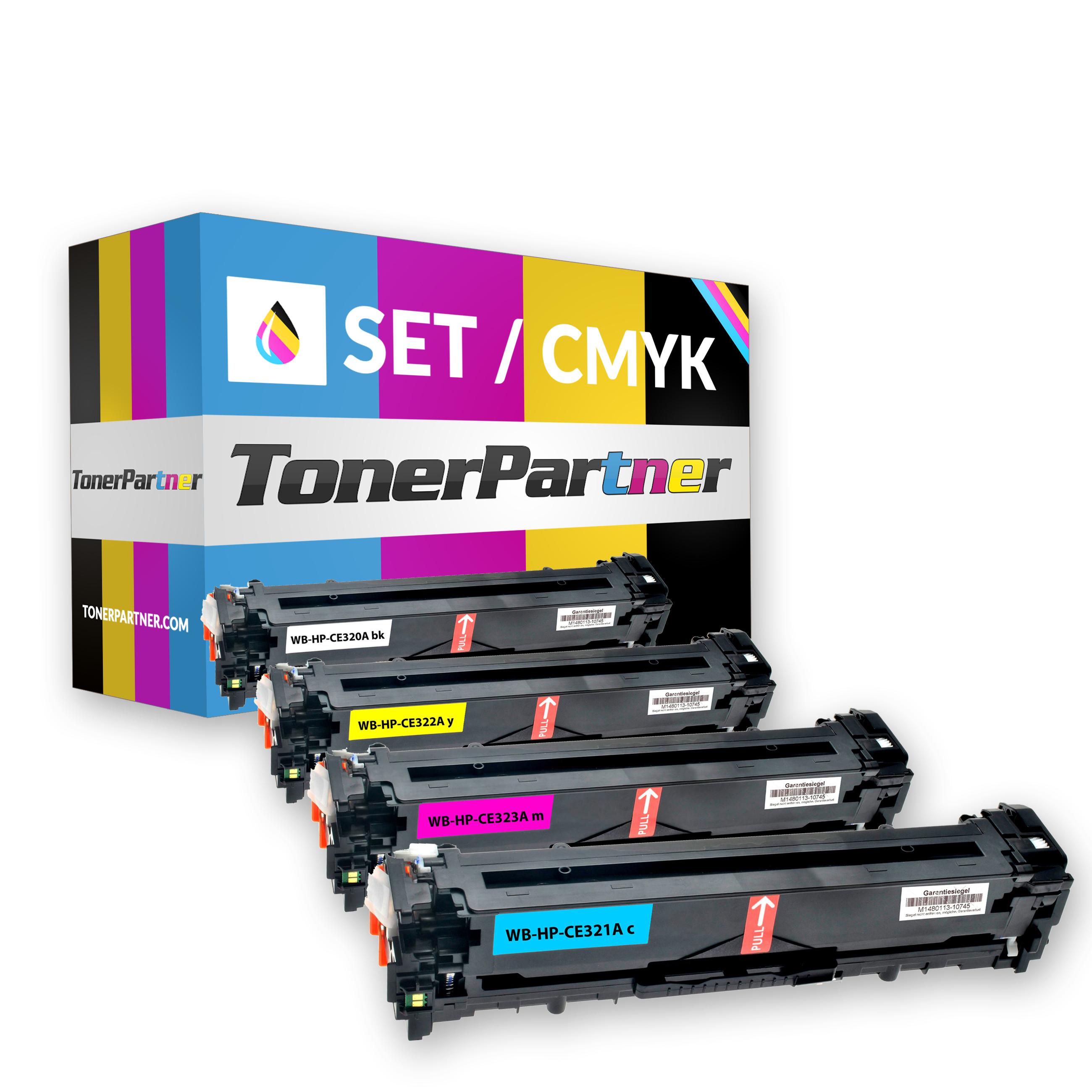 HP CE320A (1x 2.000 Seiten) - CE321A/CE322A/CE323A (3x 1.300 Seiten) Toner MultiPack Kompatibel