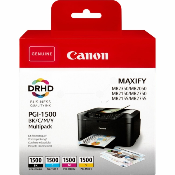 Original Canon 9218B005 / PGI1500BKCMY Tintenpatrone MultiPack