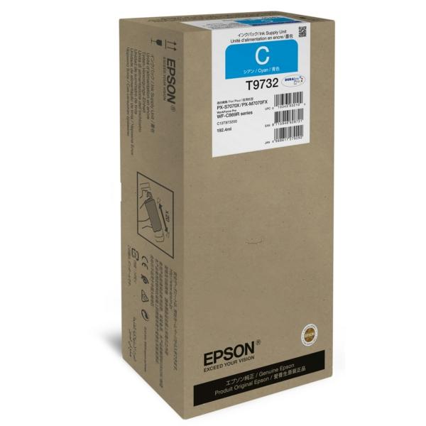 Original Epson C13T973200 / T9732 Tintenpatrone cyan