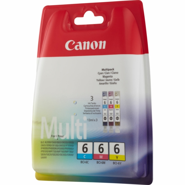 Original Canon 4706A029 / BCI6 Ink cartridge multi pack