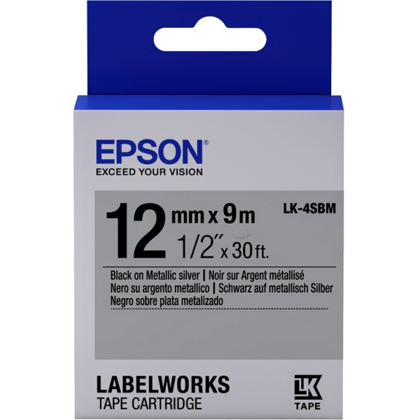 Original Epson C53S654019 / LK4SBM DirectLabel-Etiketten