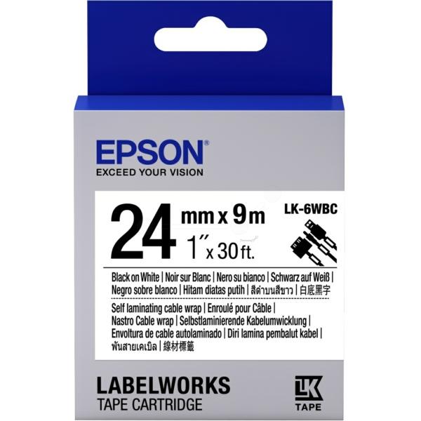Original Epson C53S656901 / LK6WBC DirectLabel-Etiketten