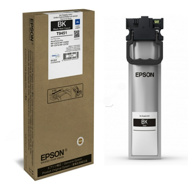 Original Epson C13T945140 / T9451 Tintenpatrone schwarz