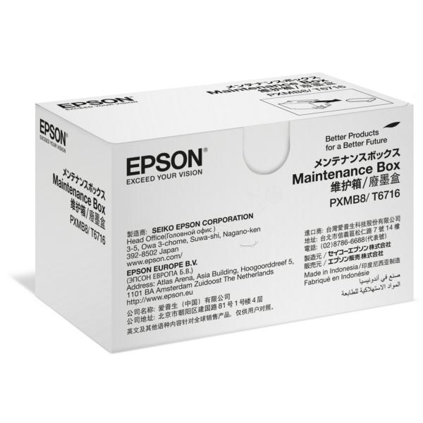 Original Epson C13T671600 / T6716 Resttintenbehälter