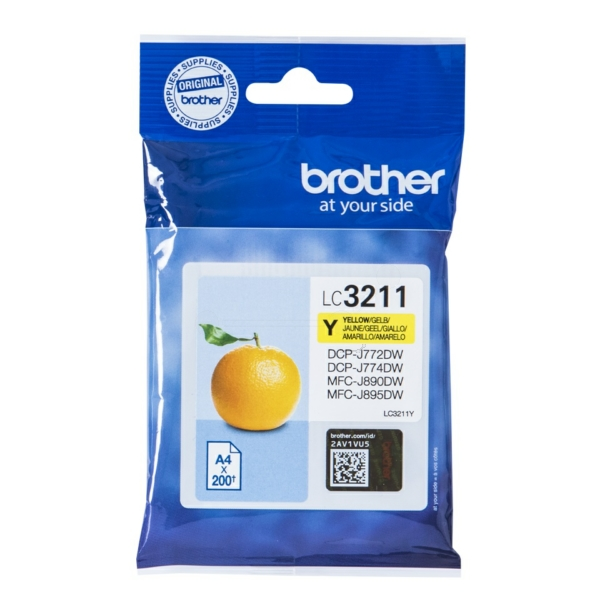 Original Brother LC3211Y Tintenpatrone gelb