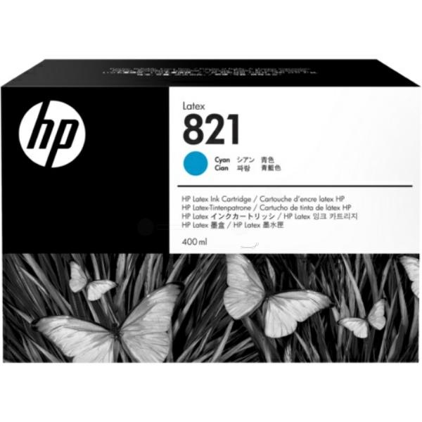 Original HP G0Y86A / 821 Tintenpatrone cyan
