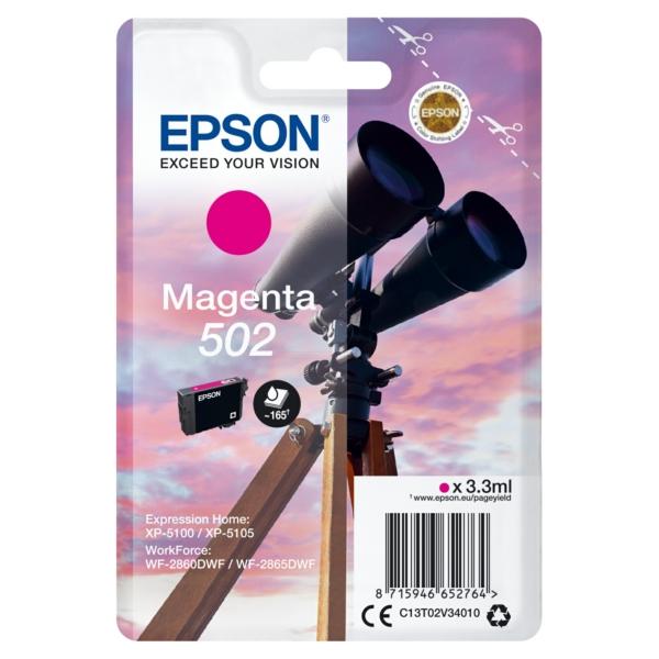 Original Epson C13T02V34010 / 502 Tintenpatrone magenta