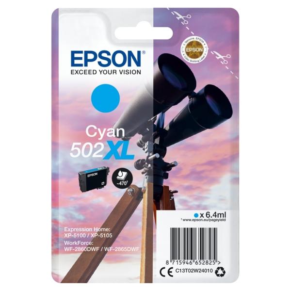 Original Epson C13T02W24010 / 502XL Tintenpatrone cyan
