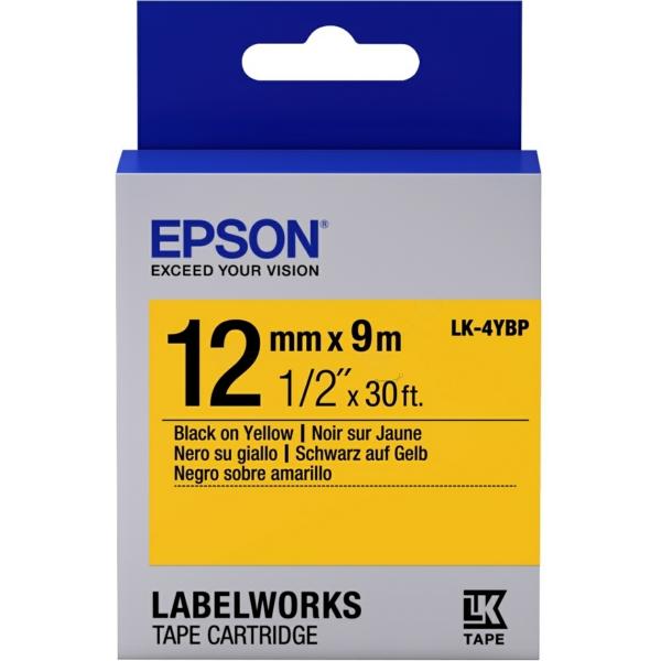 Original Epson C53S654008 / LK4YBP DirectLabel-Etiketten