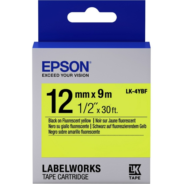 Original Epson C53S654010 / LK4YBF DirectLabel-Etiketten