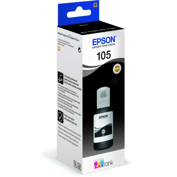 Original Epson C13T00Q140 / 105 Tintenpatrone schwarz