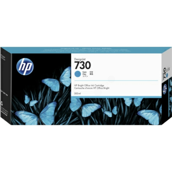 Original HP P2V68A / 730 Tintenpatrone cyan