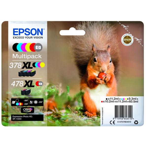 Original Epson C13T379D4010 / 378XL478XL Tintenpatrone MultiPack