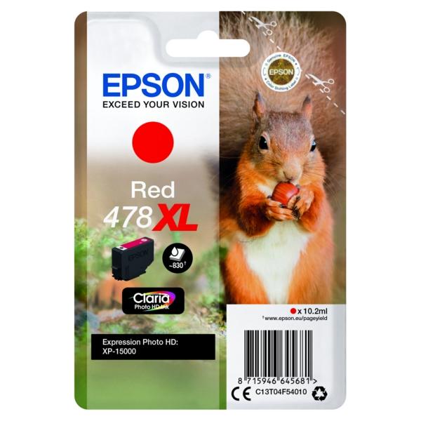 Original Epson C13T04F54010 / 478XL Tintenpatrone rot