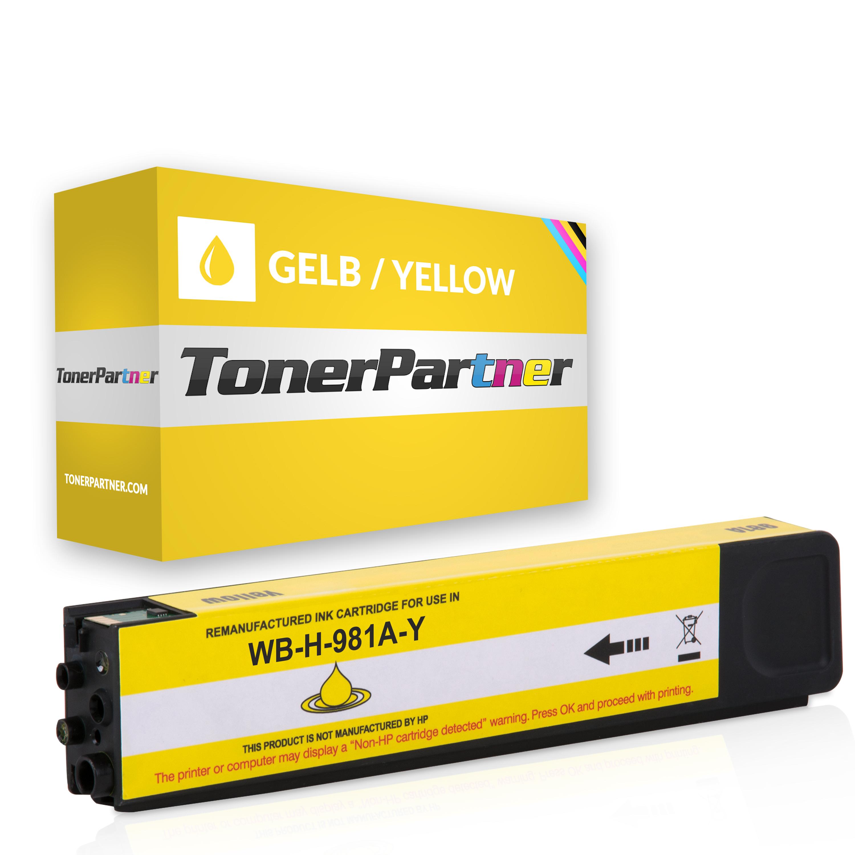 HP J3M70A / 981A Tintenpatrone gelb Kompatibel