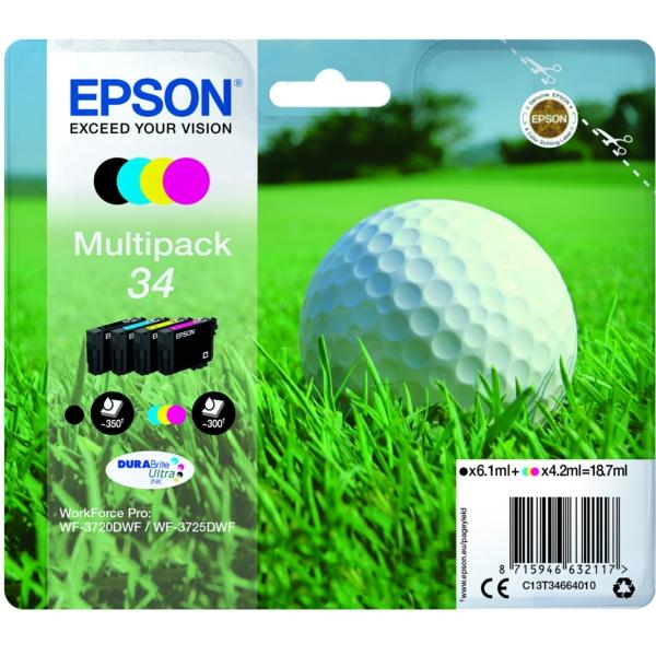 Original Epson C13T34664510 / 34 Tintenpatrone MultiPack