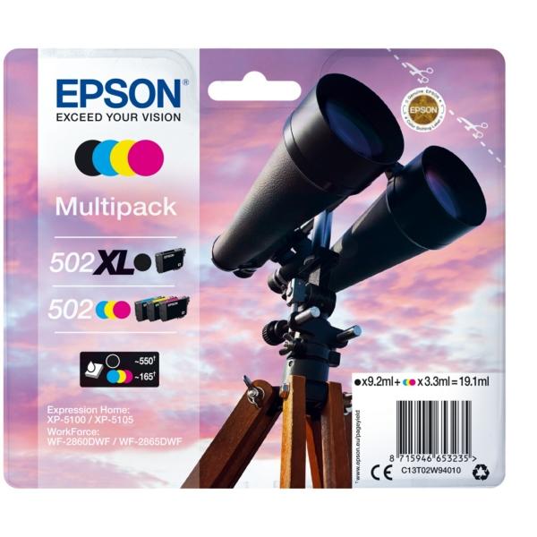 Original Epson C13T02W94010 / 502XL502 Tintenpatrone MultiPack
