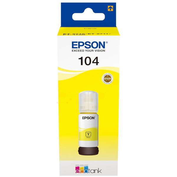 Original Epson C13T00P440 / 104 Tintenpatrone gelb